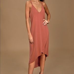 NEW Lush terra-cotta high low dress